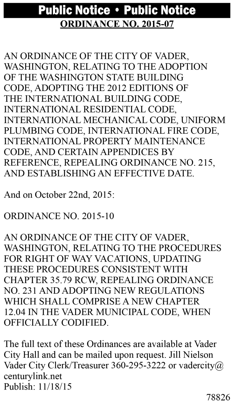 Legal 78826: Ordinance No. 2015-07