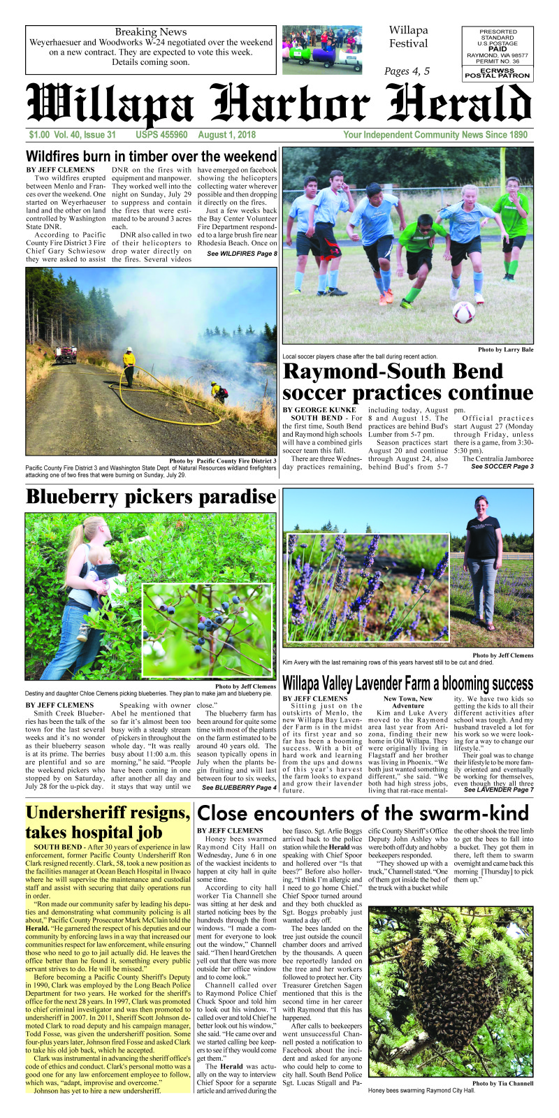 August 1, 2018 Willapa Harbor Herald
