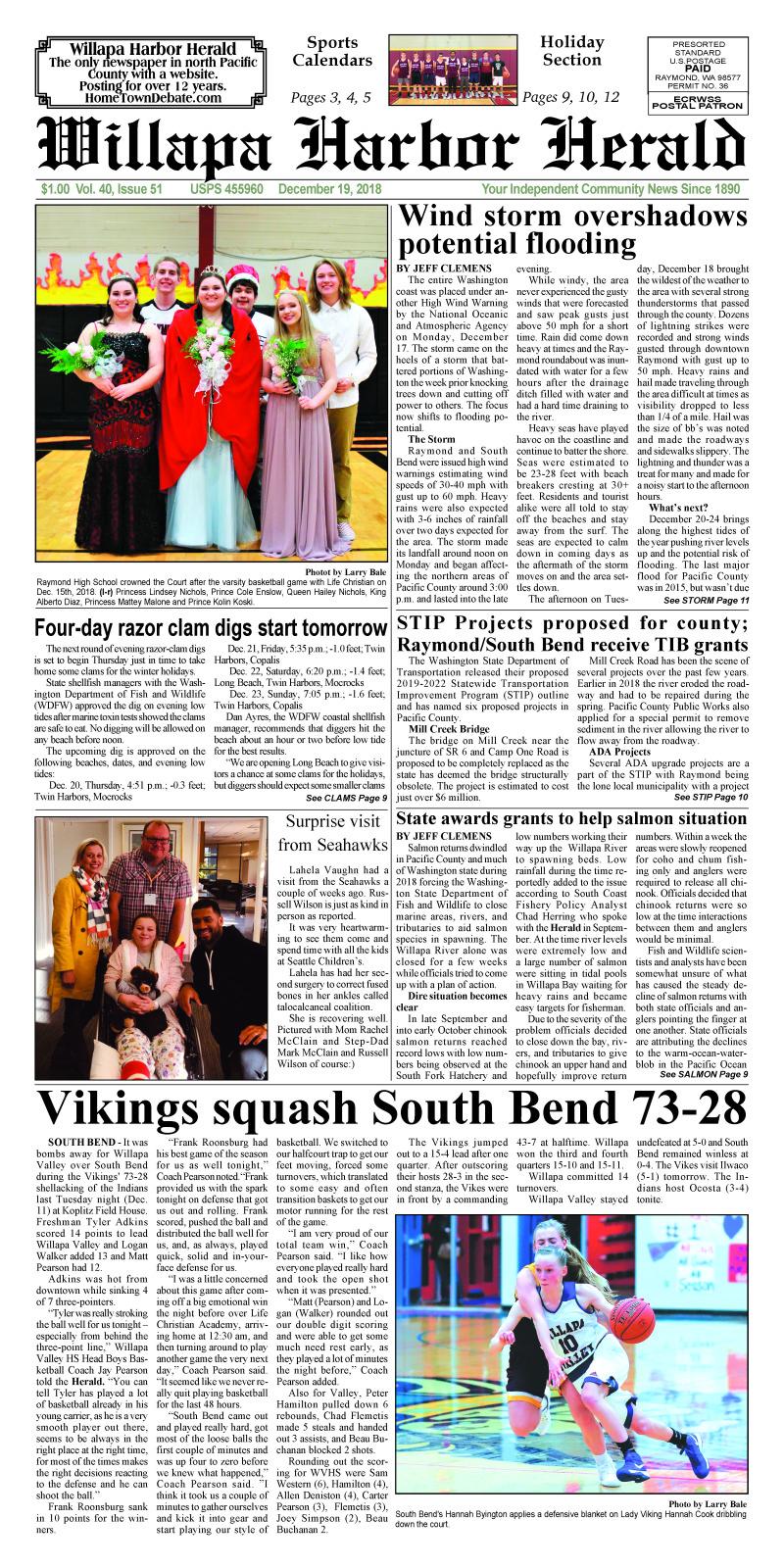 December 19, 2018 Willapa Harbor Herald