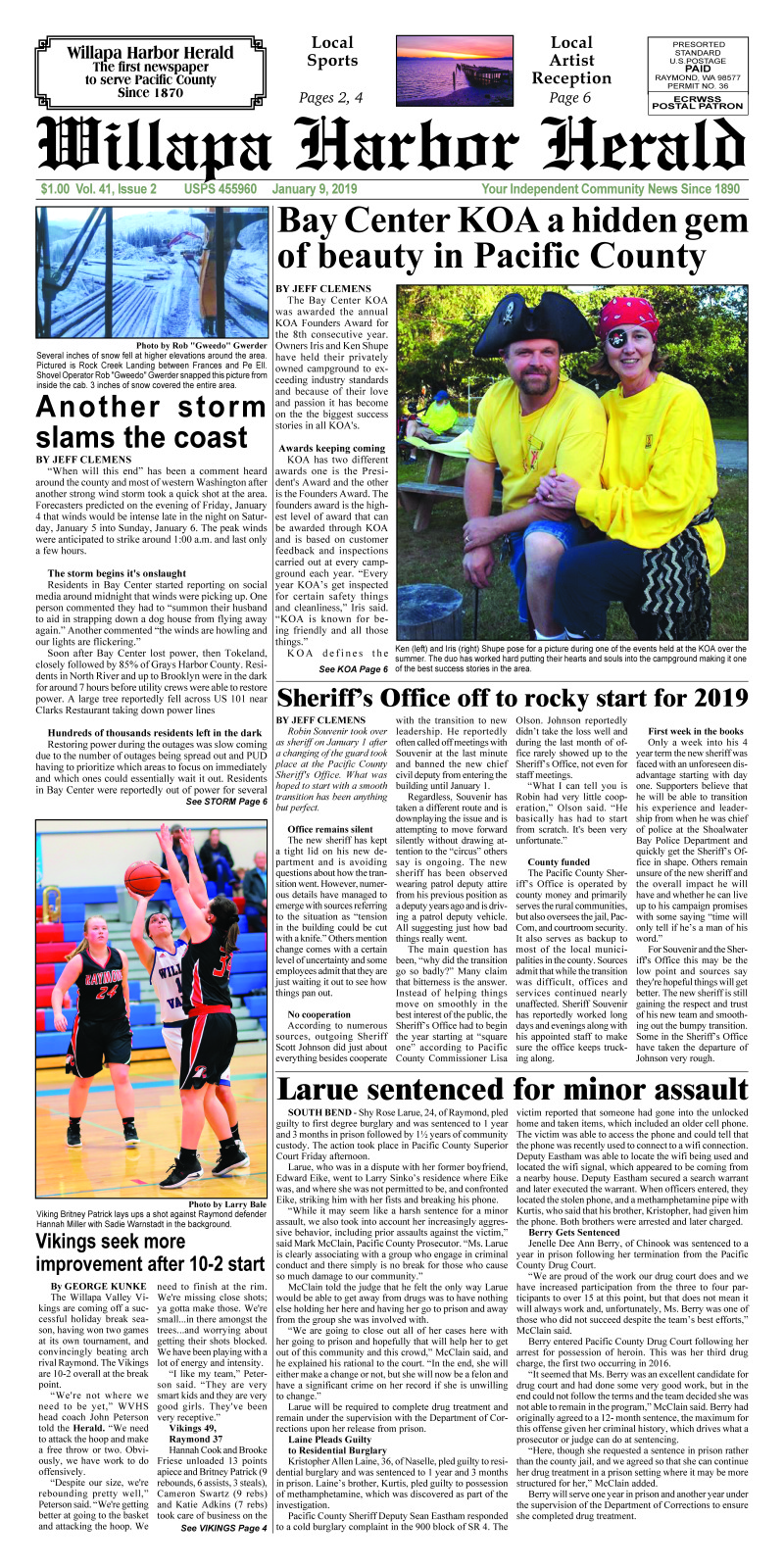 January 9, 2019 Willapa Harbor Herald