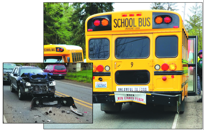 Vehicle vs. school bus on SR 6