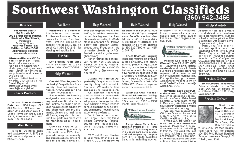 Classifieds 10.25.17