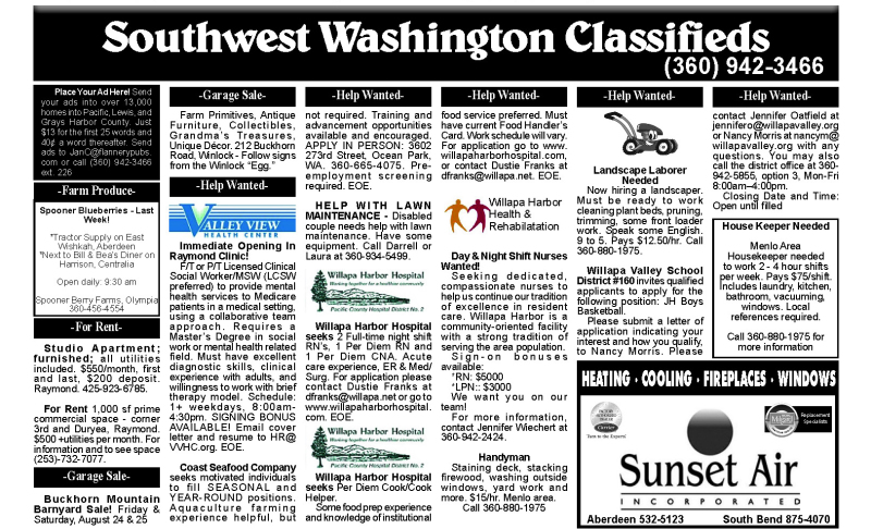 Classifieds 8.22.18