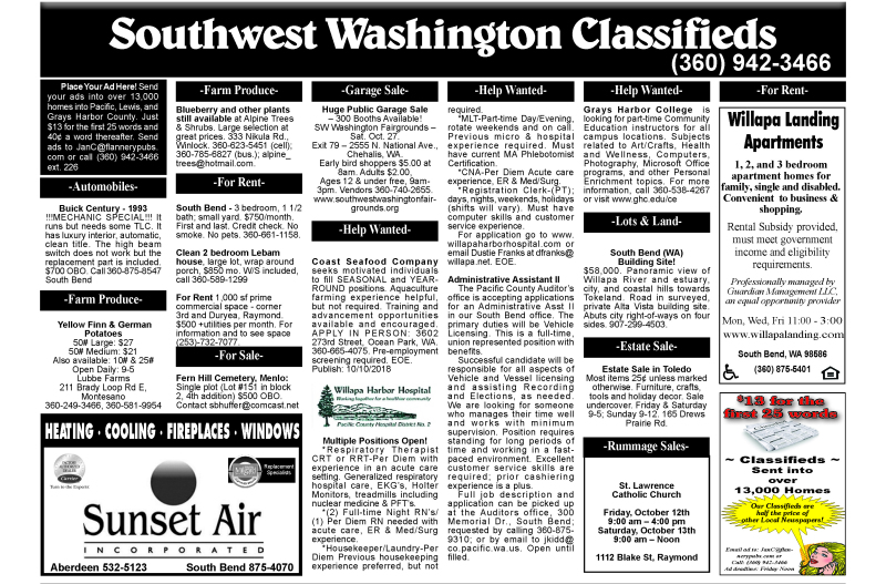 Classifieds 10.10.18