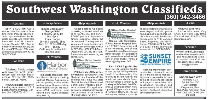 Classifieds 2.1.17