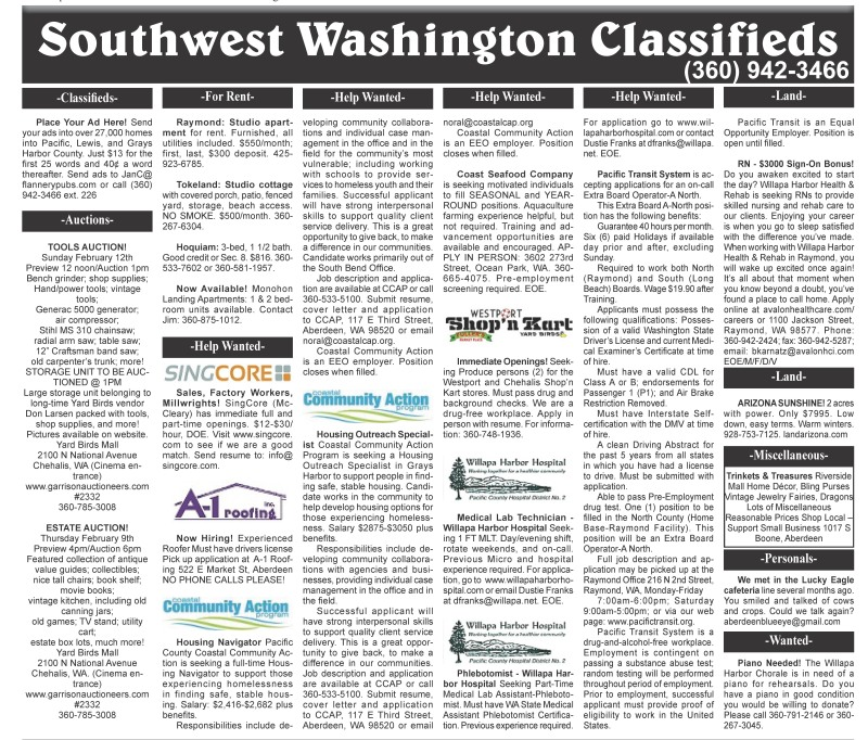 Classifieds 2.8.17
