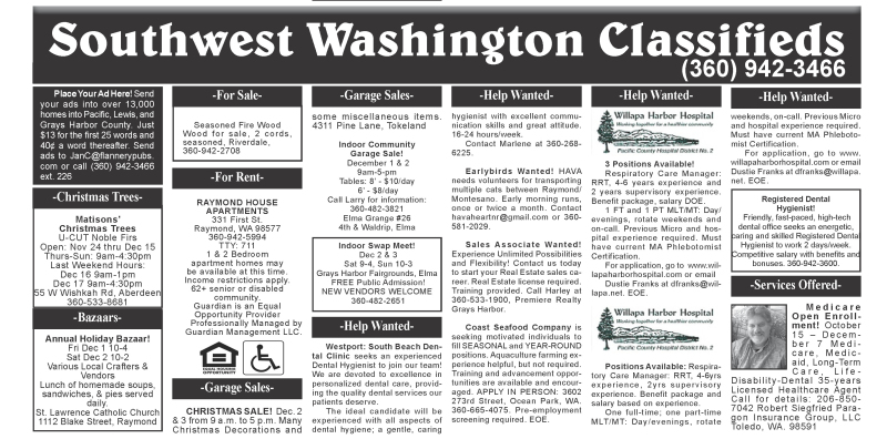 Classifieds 11.29.17