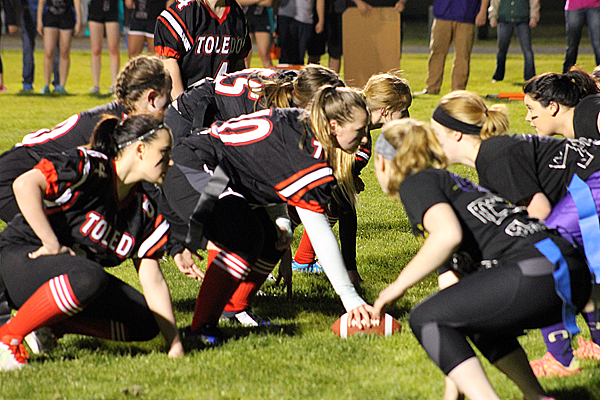 Loggers take Indians 14-12 in powder puff game