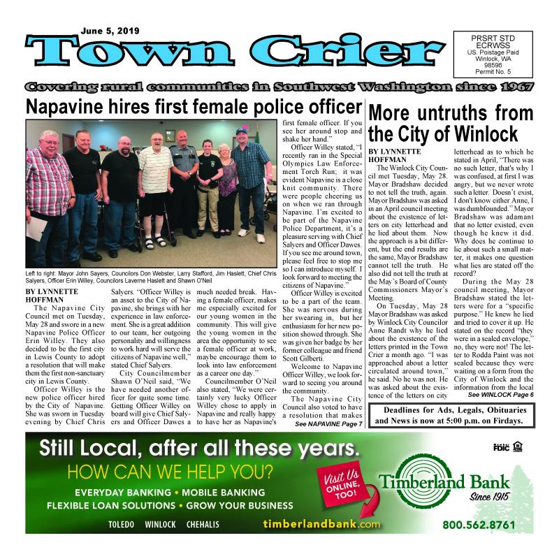 June 5, 2019 Town Crier