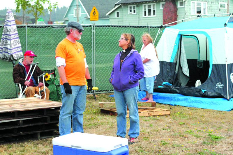 Homeless encampment moves to Amazing Grace Lutheran