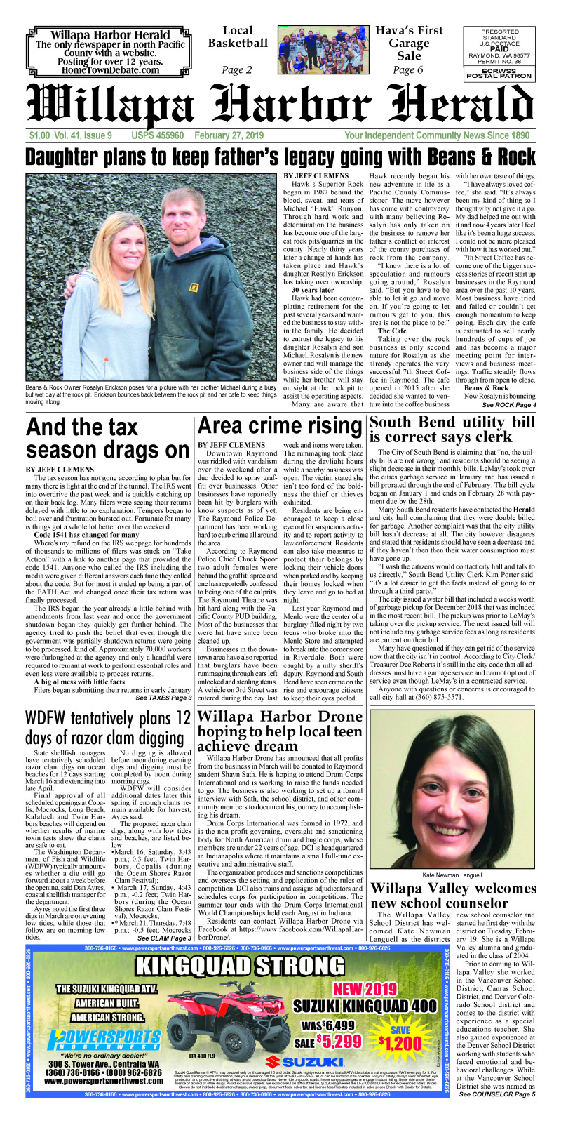 February 27, 2019 Willapa Harbor Herald