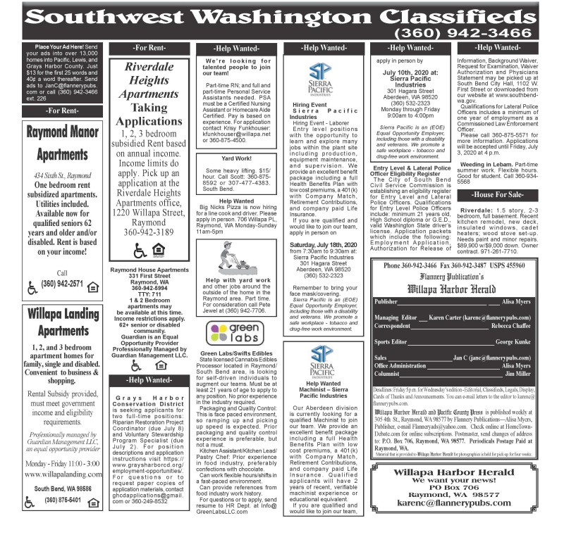 Classifieds 7.1.20