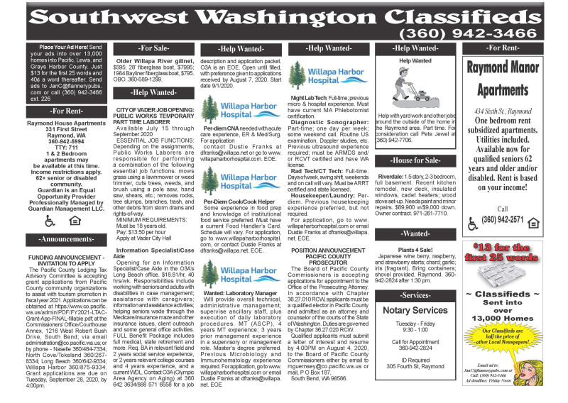 Classifieds 7.22.20