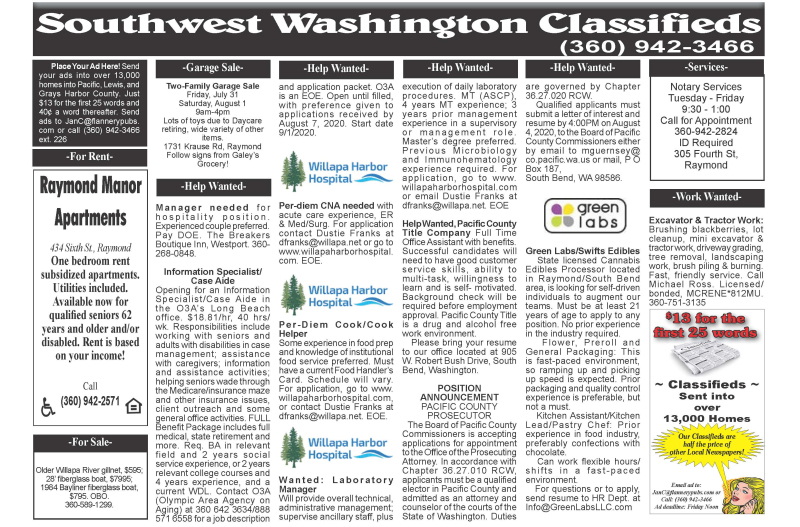 Classifieds 7.29.20