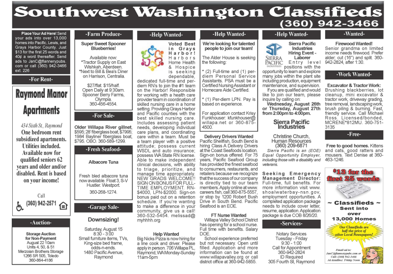 Classifieds 8.12.20