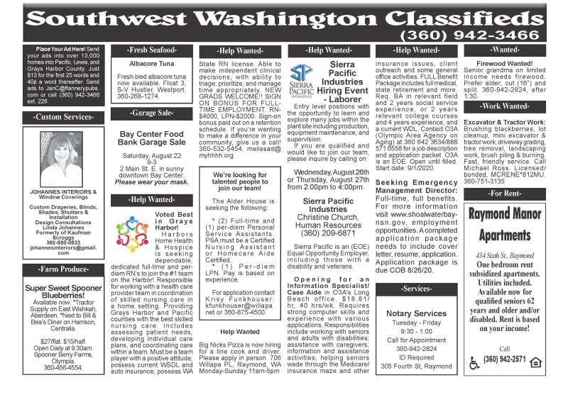 Classifieds 8.19.20