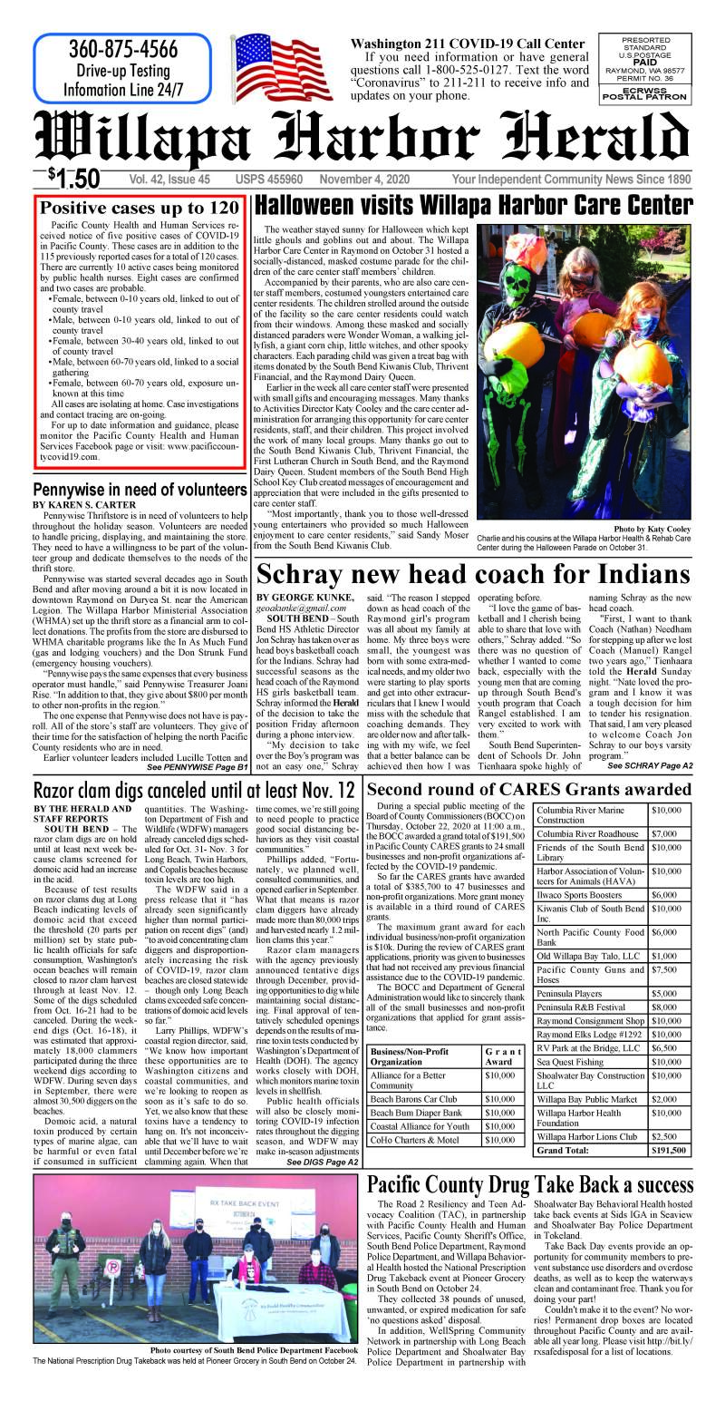 November 4, 2020 Willapa Harbor Herald and Pacific County Press
