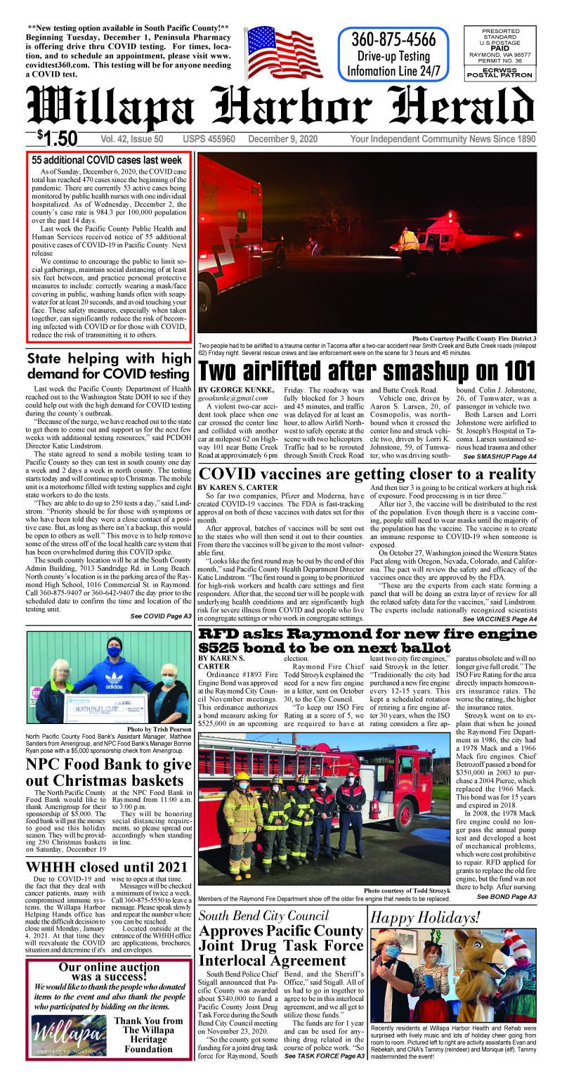 December 9, 2020 Willapa Harbor Herald and Pacific County Press