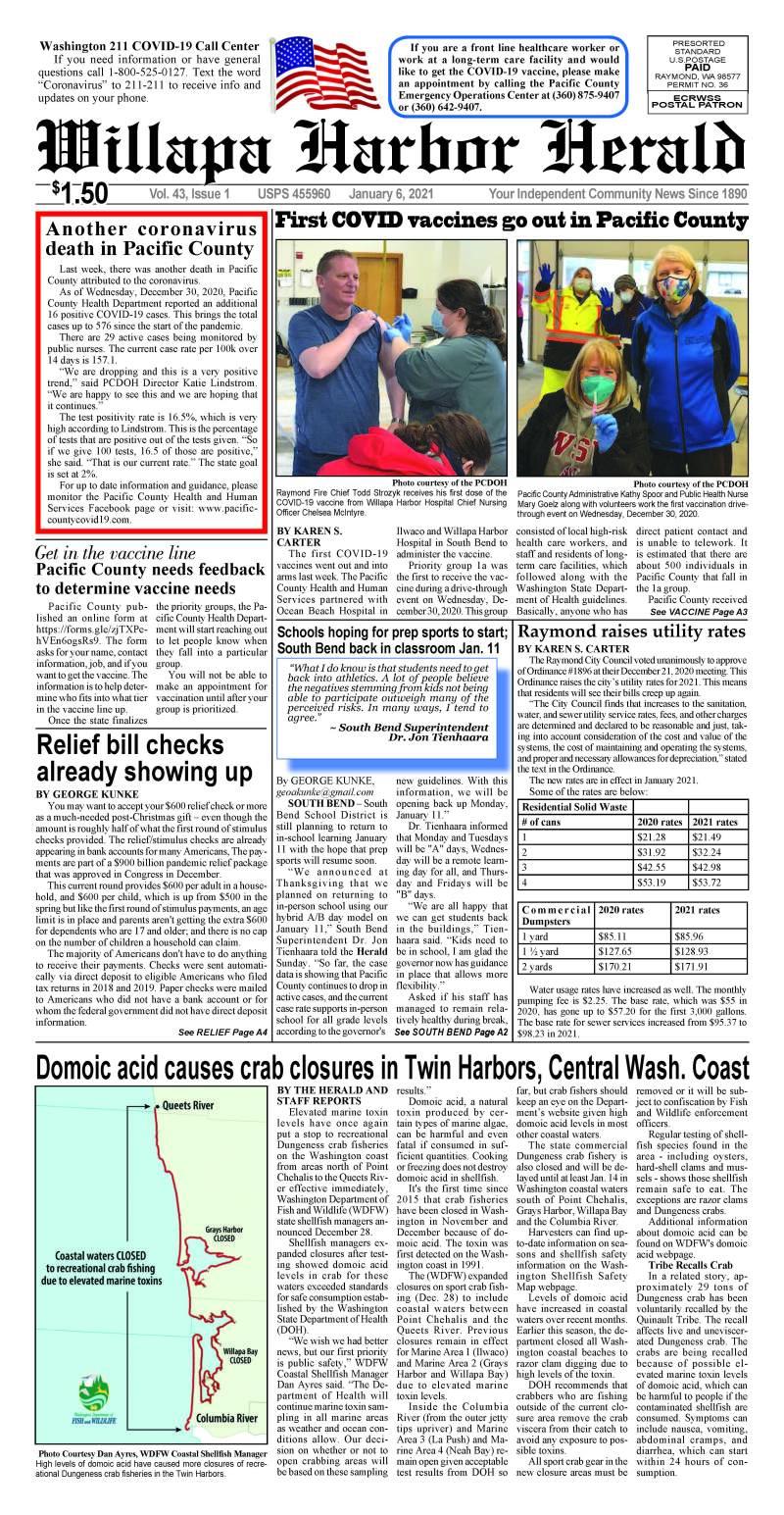 January 6, 2021 Willapa Harbor Herald and Pacific County Press