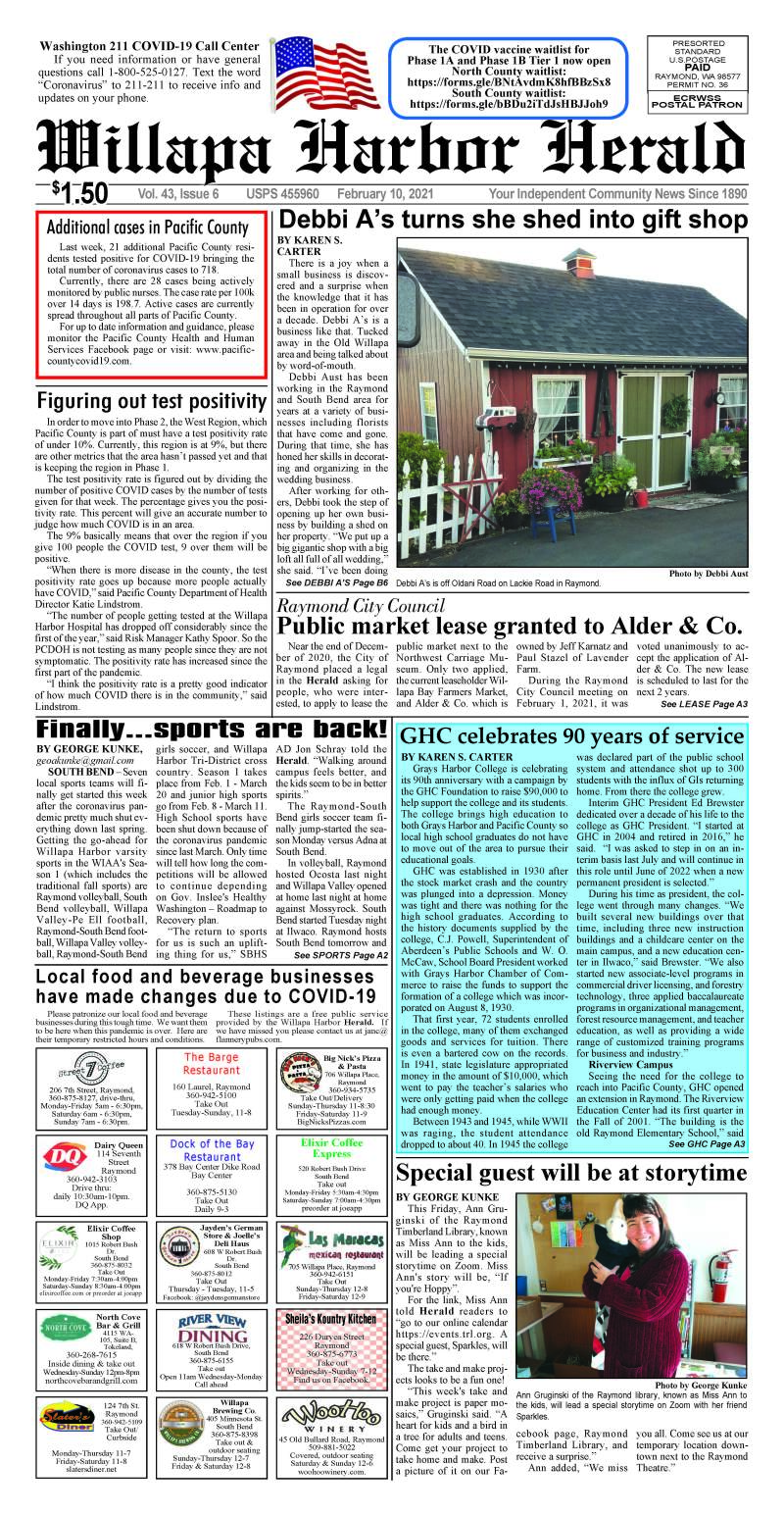 February 10, 2021 Willapa Harbor Herald and Pacific County Press