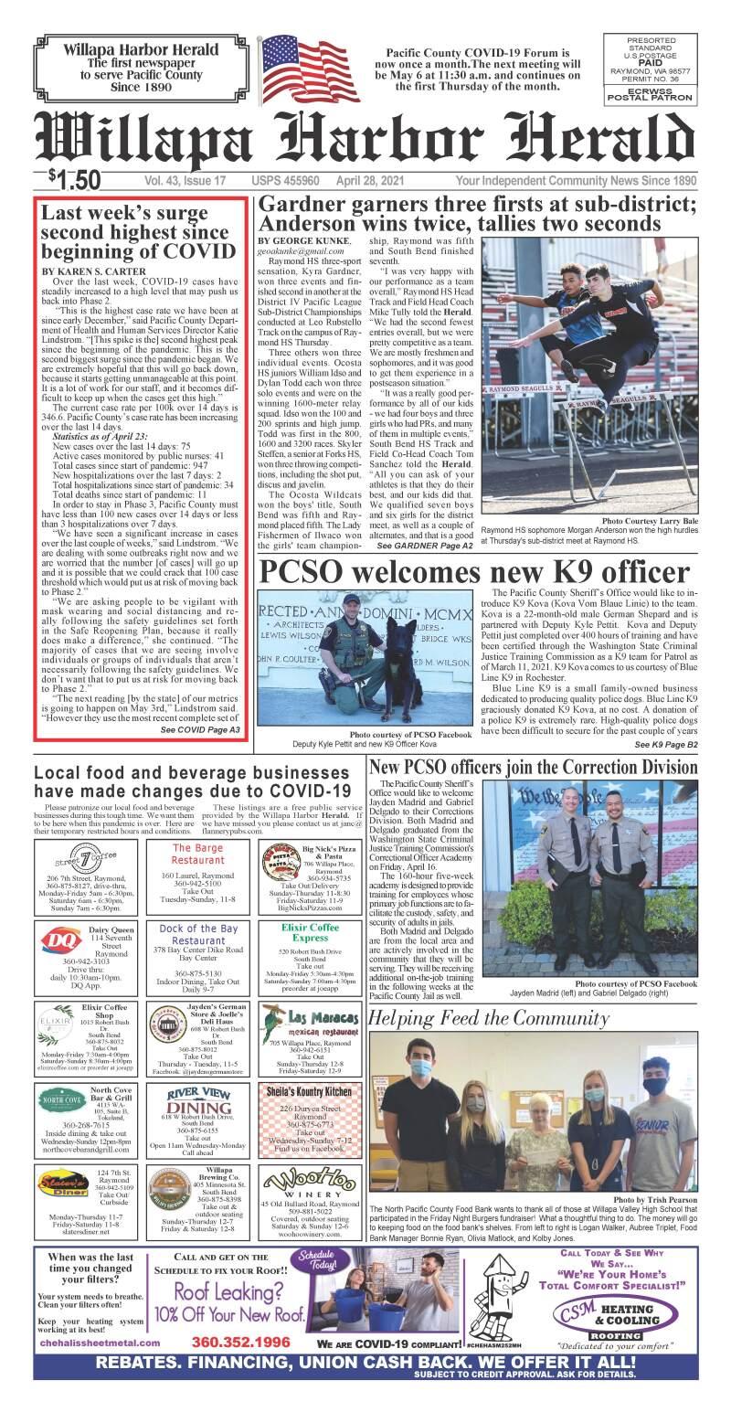 April 28, 2021 Willapa Harbor Herald and Pacific County Press