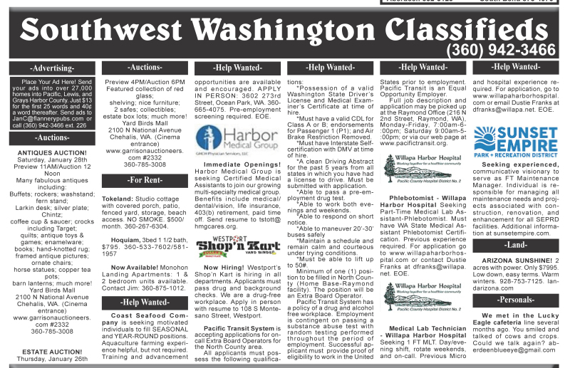 Classifieds 1.25.17