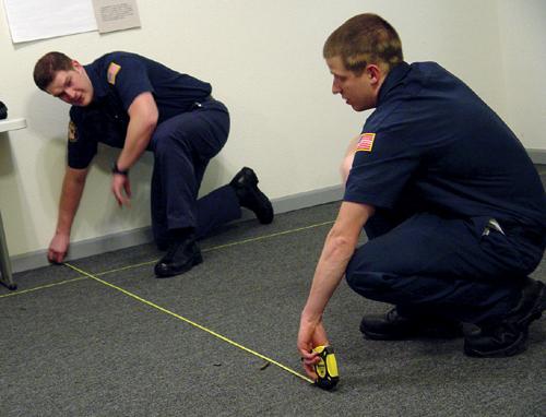Cadets process mock crime scenes in Winlock -
