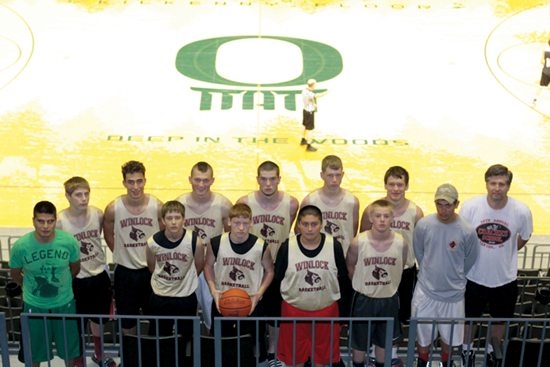 Winlock ball players train at U of O