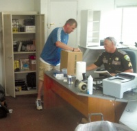 Volunteers help prepare Vader PD for use as Sheriff's substation