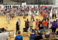 Cowlitz Tribe welcomes guests to pow wow at Toledo High School