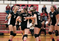 Local volleyball teams plugging away