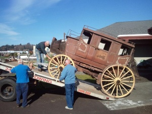 Famous stagecoach arrives