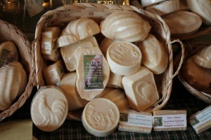 Creamy, fragrant, homemade goat milk soaps from the Morning Star Family Farm