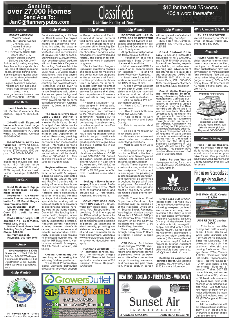 Classifieds 3.9.16