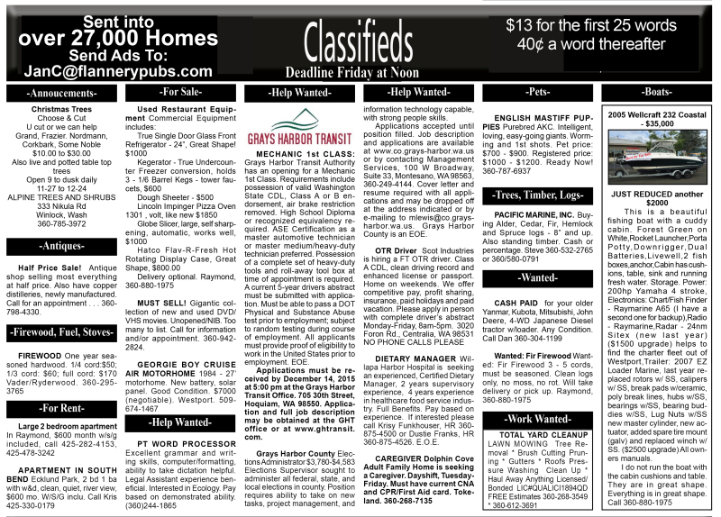 Classifieds 12.9.15