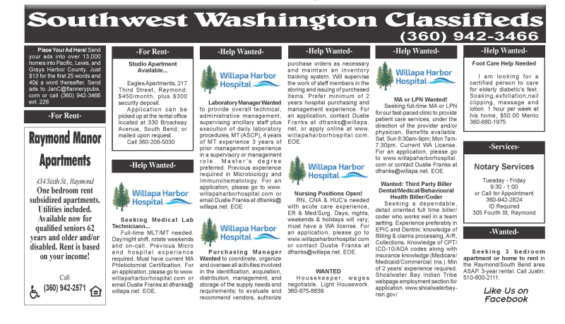 Classifieds 12.9.20
