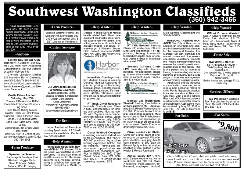 Classifieds 5.17.17