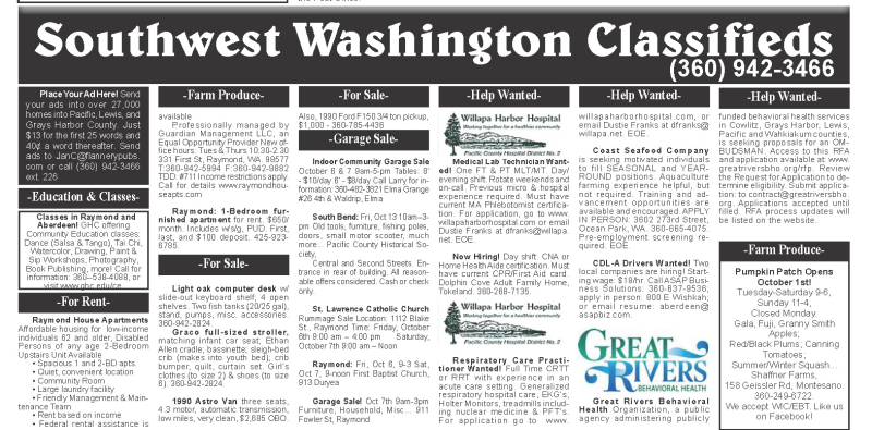 Classifieds 10.4.17