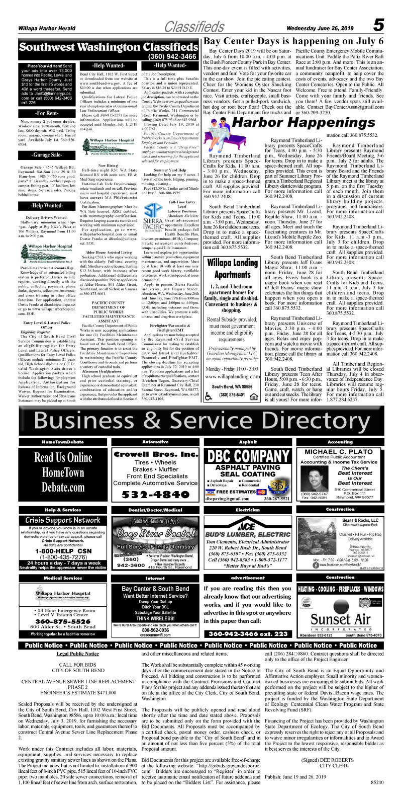 Classifieds 6.26.19