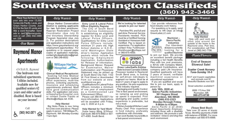 Classifieds 6.24.20