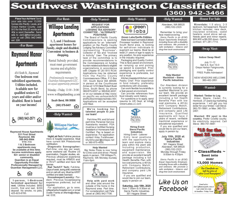 Classifieds 7.8.20
