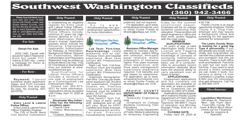 Classifieds 3.25.2020