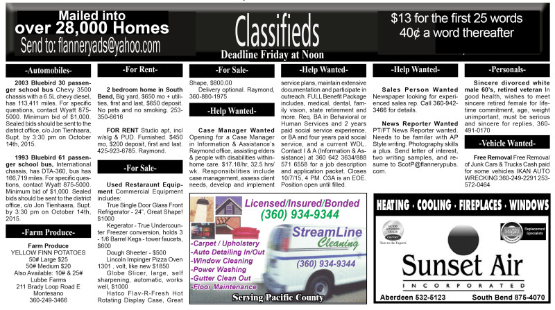 Classifieds 10.7.15