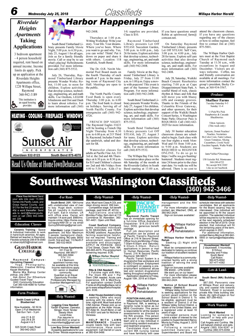 Classifieds 7.25.18
