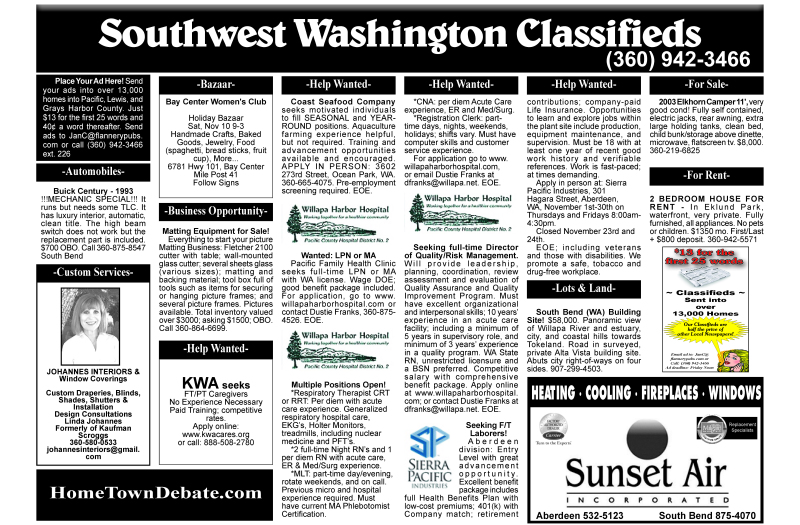 Classifieds 11.7.18