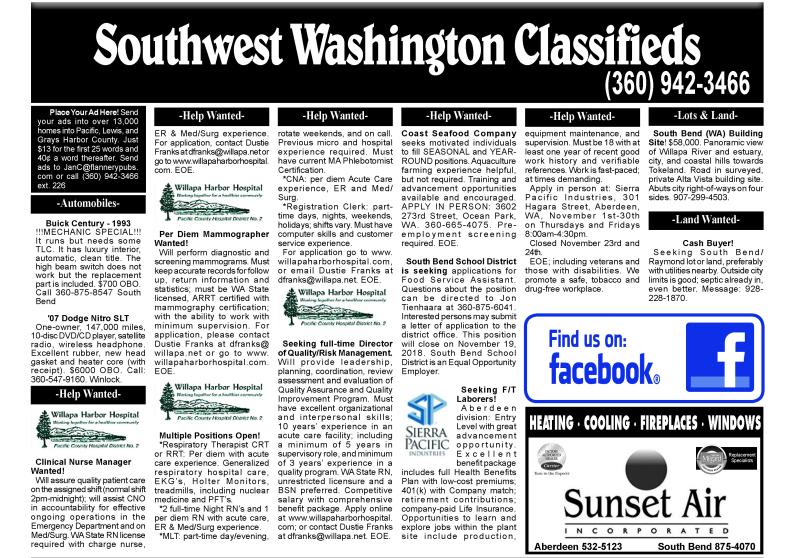 Classifieds 11.14.18