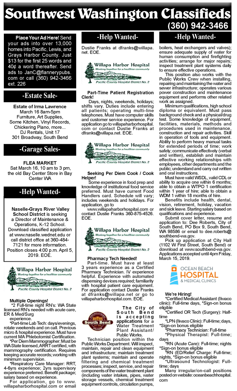 Classifieds 3.13.19