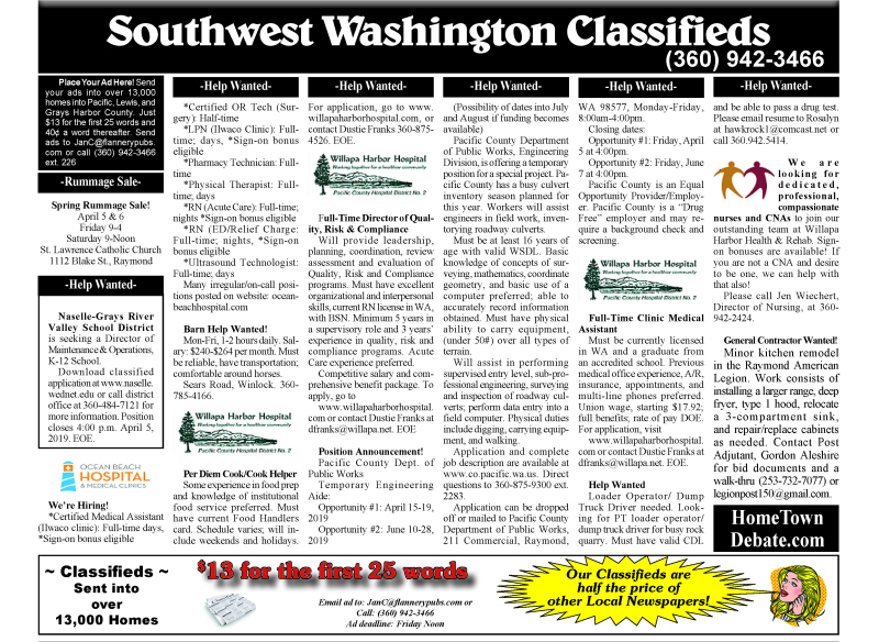 Classifieds 3-27-19