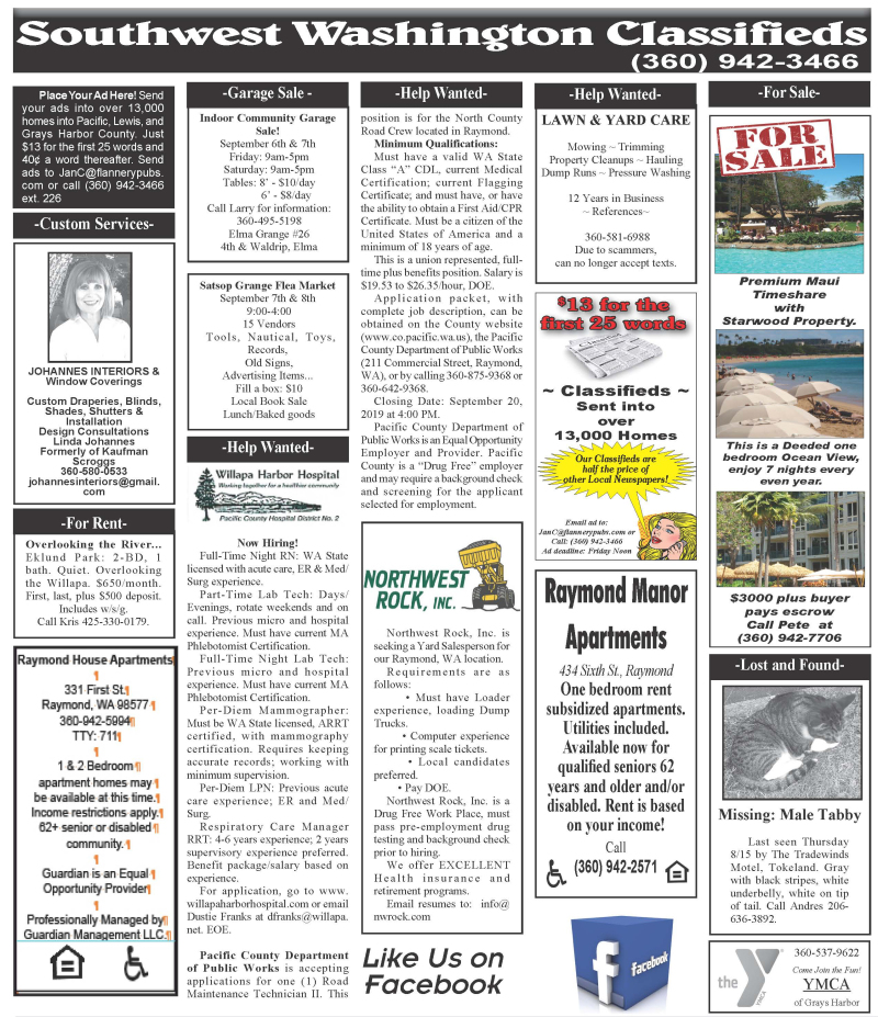 Classifieds 9.4.19