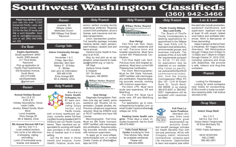 Classifieds 10.30.19